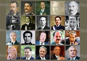 Presidentes que han sido objeto de sobrenombre. (Fotoarte: Hugo Cuyán)