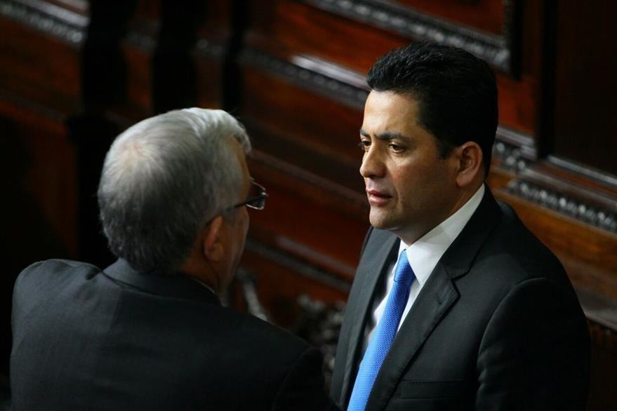 Óscar Chinchilla, a pocos momentos de asumir la presidencia.