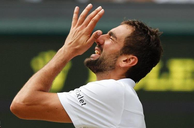 El tenista croata llegó a las lágrimas por el dolor y la impotencia ante Roger Federer. (Foto Prensa Libre: AFP)