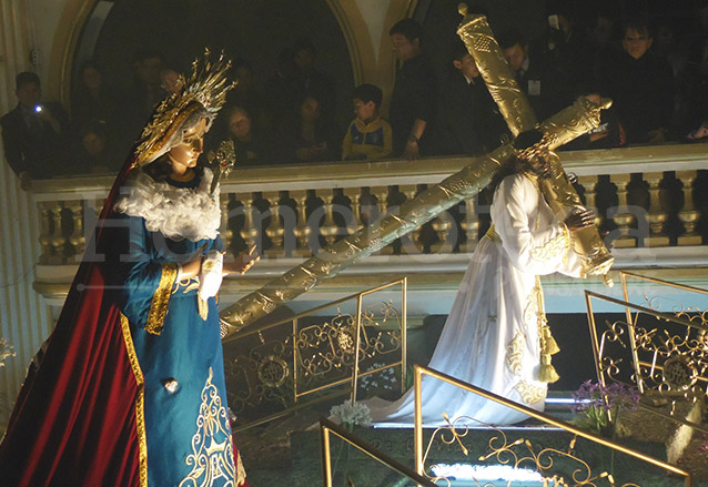 Jesús Nazareno Redentor del Mundo y Santísima Virgen de Dolores de El Gallito, zona 3. Cuaresma 2014. (Foto: Néstor Galicia)