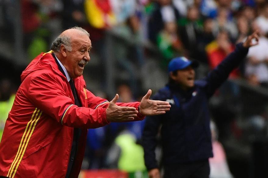 El técnico Vicente Del Bosque fue muy exigente con sus jugadores en la Eurocopa. (Foto Prensa Libre: AFP)