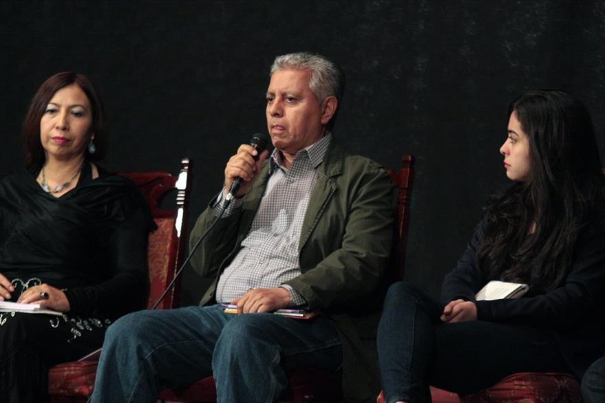 El poeta Enrique Noriega es el homenajeado del Festival de Poesía. (Foto Prensa Libre: Carlos Ventura).