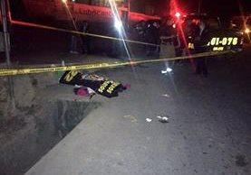 Lugar donde se registró el accidente en Santa Cruz del Quiché. (Foto Prensa Libre: Óscar Figueroa).