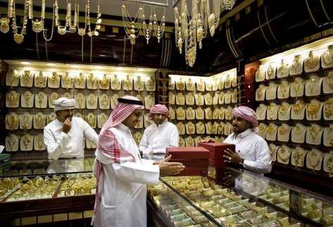 Joyería de oro en Dubai. (Foto Prensa Libre: AP)