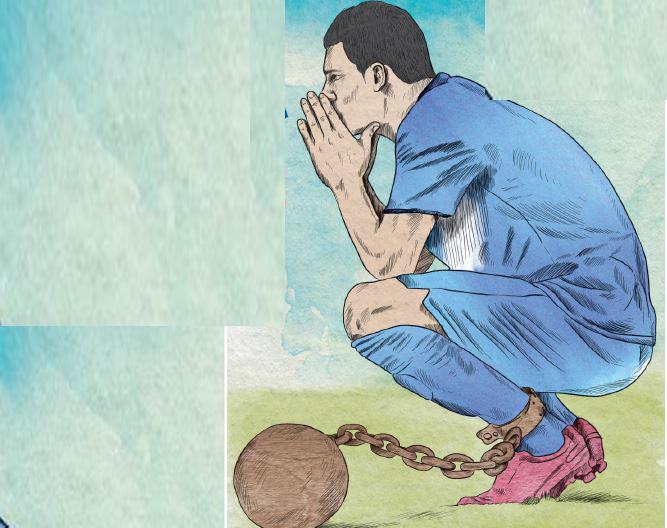 La suspensión de las competencias internacionales impide el desarrollo del futbol nacional. (Foto Prensa Libre: Esteban Arreola)