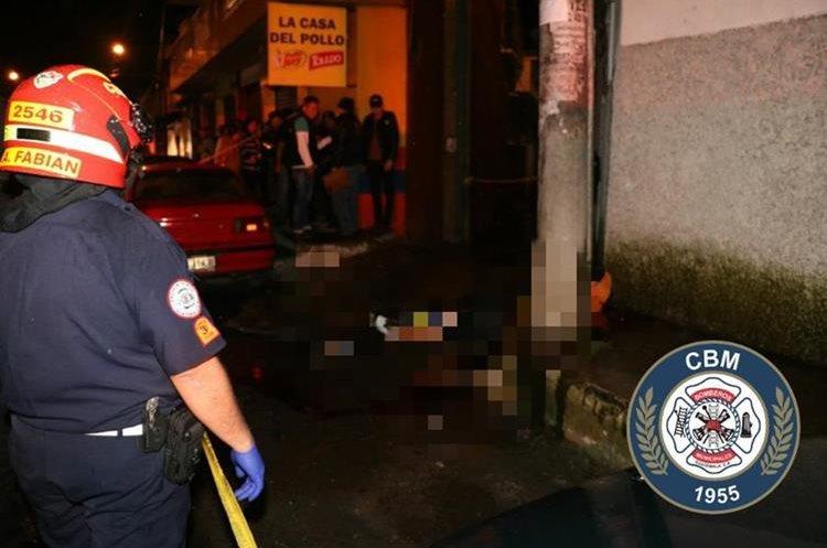 Bomberos Municipales no pudieron reanimar a la persona baleada en Miralvalle.
