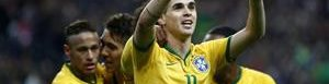 Brasileños celebran.