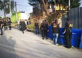 Violencia cobra la vida de varias personas durante la mañana de este jueves. (Foto Prensa Libre: Estuardo Paredes)
