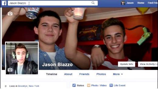 Coby Persin creó un perfil falso en Facebook  en el que se hace llamar Jason Biazzo. (Foto Prensa Libre: Youtube).