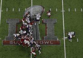 Genaniales imágenes del partido entre los Patriots y los Falcons