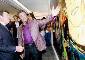 El actor Sylvester Stallone ahora se dedica a la pintura.