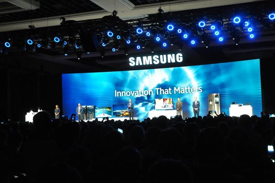 Samsung presenta nuevos gadgets en la feria de tecnología CES 2016. (Foto Prensa Libre: Ana Lucía Ola)