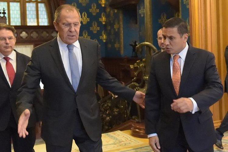 Los cancilleres de Rusia y Guatemala se reunieron por temas comerciales. (Foto Prensa Libre: Ministerio de Asuntos Externos de la Federación Rusa)