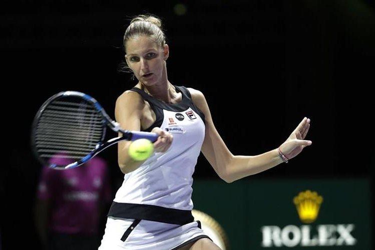 Pliskova no dio oportunidad a Muguruza y se quedó con el triunfo. (Foto Prensa Libre: AP)