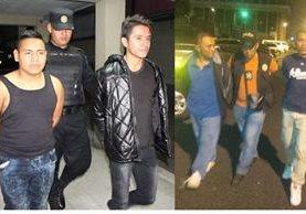 Capturados en Mixco y la zona 18 de la capital portaban municiones con las que atacarían a las fuerzas de seguridad. (Foto Prensa Libre: PNC)