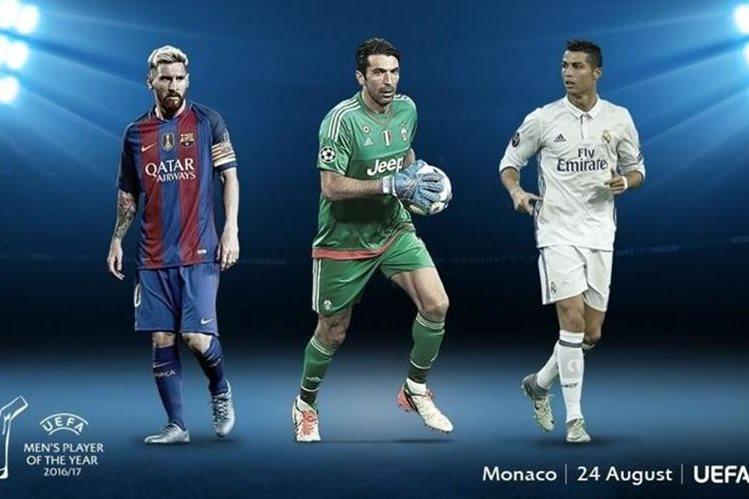 Messi, Buffon y Cristiano son los nominados al jugador del año. (Foto Prensa Libre: Uefa)