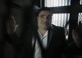 Marvin Montiel Marín, alias el Taquero, en la carceleta del juzgado este jueves. (Foto Prensa Libre: Carlos Hernández).