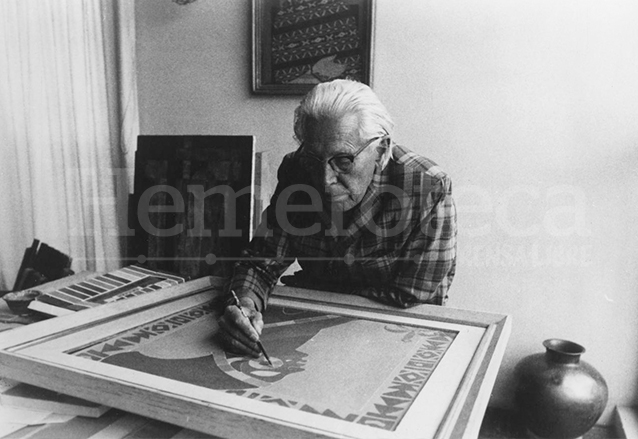 El maestro Carlos Mérida (1891-1984) (Foto: Hemeroteca PL)