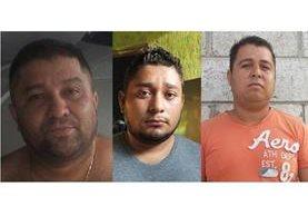 Tres de los capturados en la cabecera de Zacapa, sindicados de delitos de narcotráfico. (Foto Prensa Libre: PNC)