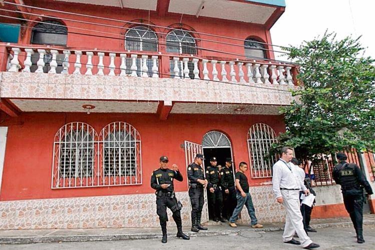 testigos señalaron que el presunto hechor se habría ocultado en esta casa de residenciales Las Flores, zona 3 de Mazatenango.