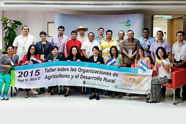 Participantes en la capacitación en Taiwán. (Foto Prensa Libre: Cortesía MAGA)