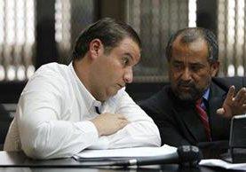 Roberto Barreda, principal sospechoso de la desaparición de Cristina Siekavizza, en audiencia este lunes. (Foto Prensa Libre: Paulo Raquec)