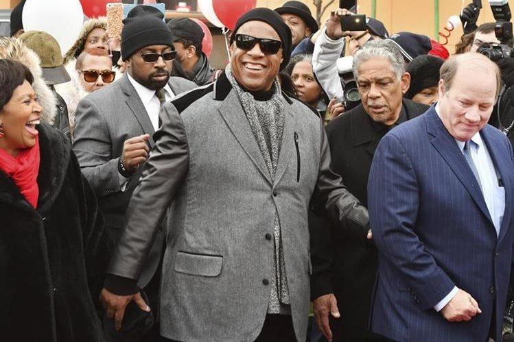 El cantautor Stevie Wonder llegó a Detroit, donde vivió sus primeros años. (Foto Prensa Libre: AP)