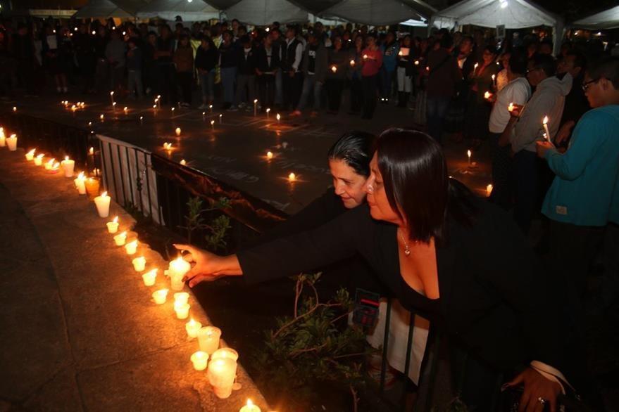 Vecinos de Cobán exigieron justicia por la violencia contra la niñez. (Foto: Eduardo Sam)