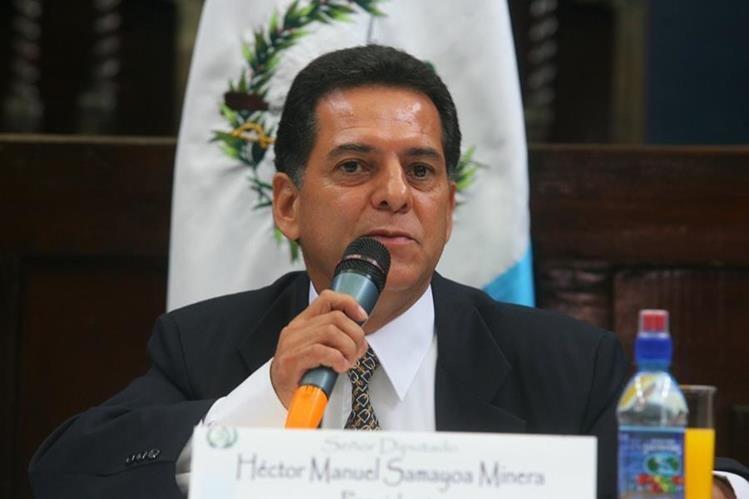 Héctor Manuel Samayoa Minera durante su gestión como diputado. (Foto Prensa Libre: Hemeroteca PL).