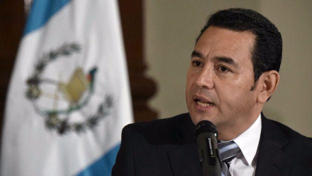 El presidente Jimmy Morales analiza restablecer la pena capital en Guatemala. JOHAN ORDÓÑEZ/AFP
