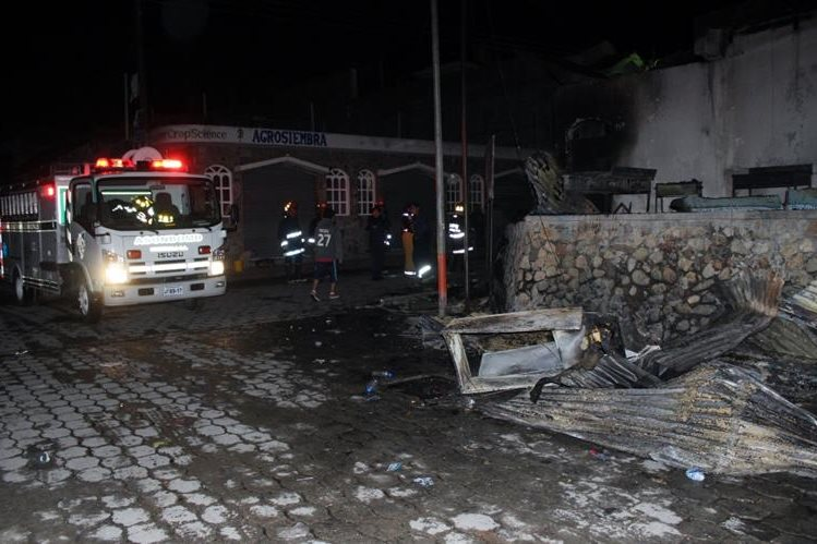 Lugar donde ocurrió el incendio en San Andrés Sajcabajá, Quiché. (Foto Prensa Libre: Óscar Figueroa)