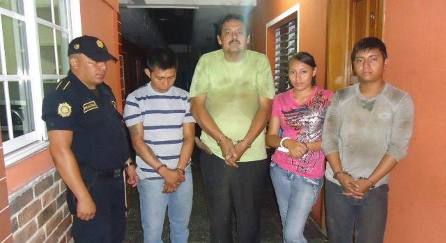 Personas detenidas luego de allamanientos en Esquipulas, Chiquimula.