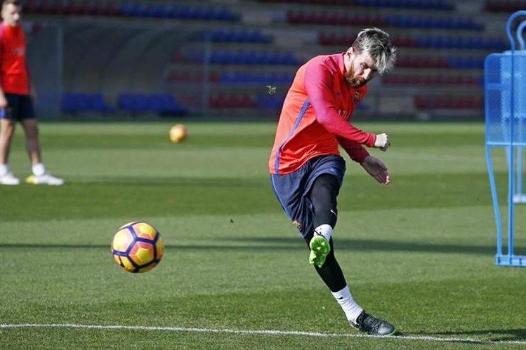 Leo Messi no jugará contra el Málaga. (Foto Prensa Libre: Twitter FC Barcelona)