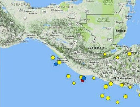 El tercer movimiento telúrico de 4.7 se registró a las 9:18 horas (Foto Prensa Libre: Cortesía)