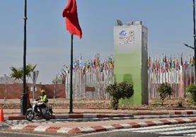 Centro de la conferencia internacional COP22 sobre el clima en Marrakesh, Marruecos. (AFP).