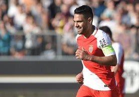 Falcao ha recuperado su buen nivel y el Mónaco ganó este sábado con un gol suyo. (Foto Prensa Libre: AFP)