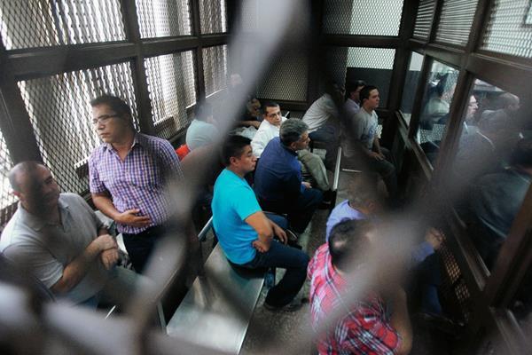 En el Juzgado B de Mayor Riesgo B, se realizó  la audiencia en donde fiscales del Ministerio Público  buscan imputarles nuevos cargos a algunos implicados en el caso conocido como La Línea. (Foto Prensa Libre: Álvaro Interiano