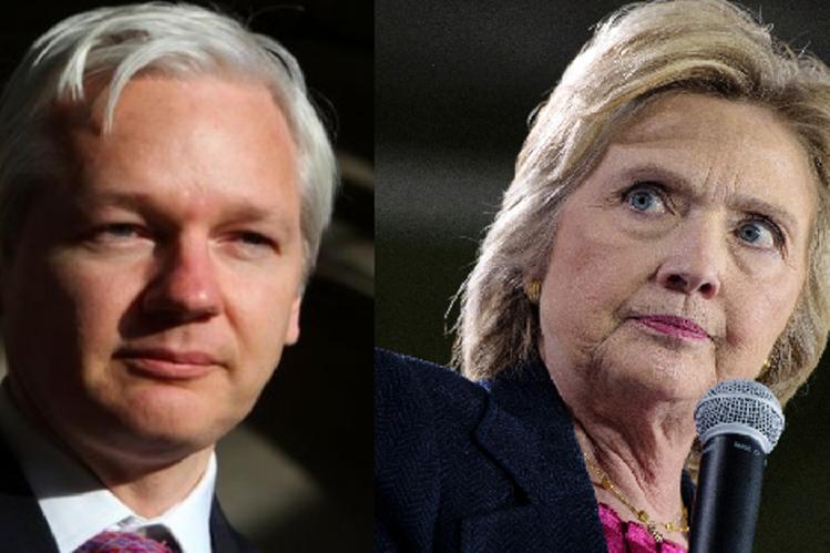 Julian Assange publicará la próxima semana documentos sensibles sobre Hillary Clinton.(AFP).