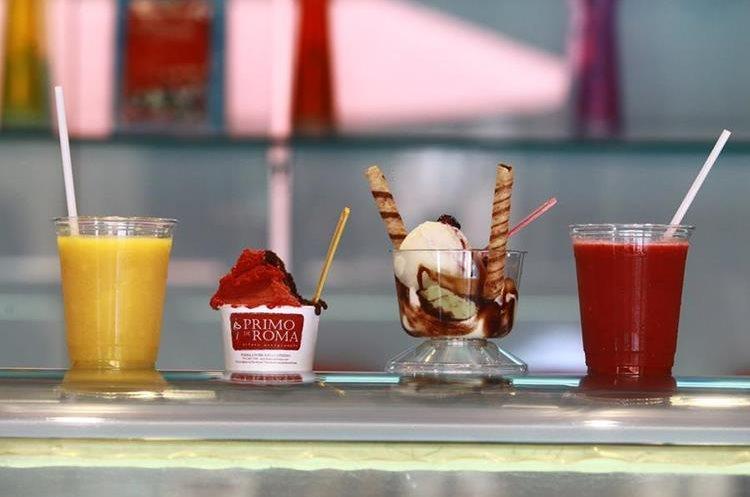 Los precios de los helados de Primo Di Roma son de Q18 hasta Q40.Teléfono: 2437-7599.<br />