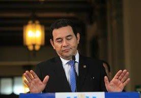 Jimmy Morales sugiere una nueva iniciativa de cambios a la Ley Electoral. (Foto Prensa Libre: Esbin García)