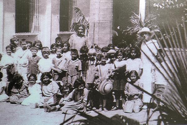Estudiantes del Colegio Alemán de 1901.