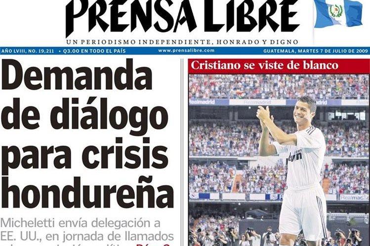 Portada del 7/7/2009 el jugador Cristiano Ronaldo es presentado a la afición del real Madrid.(Foto: Hemeroteca PL)