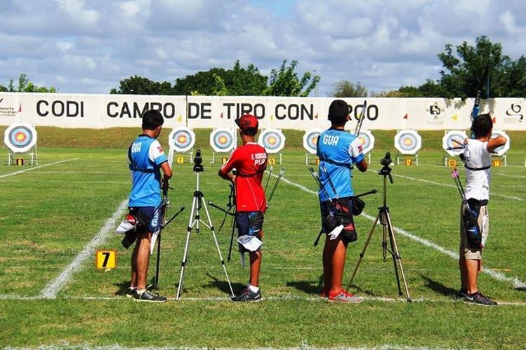 Momento de la competencia de tiro con arco, en Yucatán. (Foto Prensa Libre: Cortesía DIGEF)