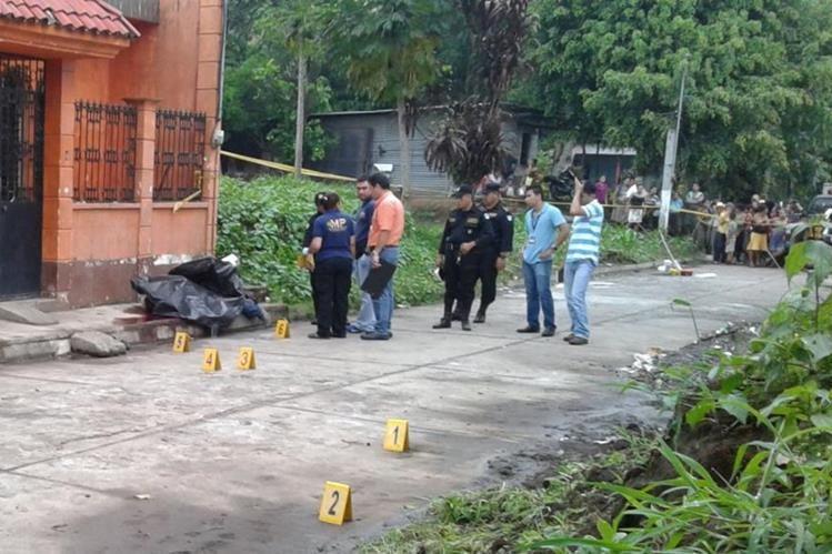 Lugar donde fue encontrado el cadáver del empresario en Santo Domingo, Suchitepéquez. (Foto Prensa Libre)