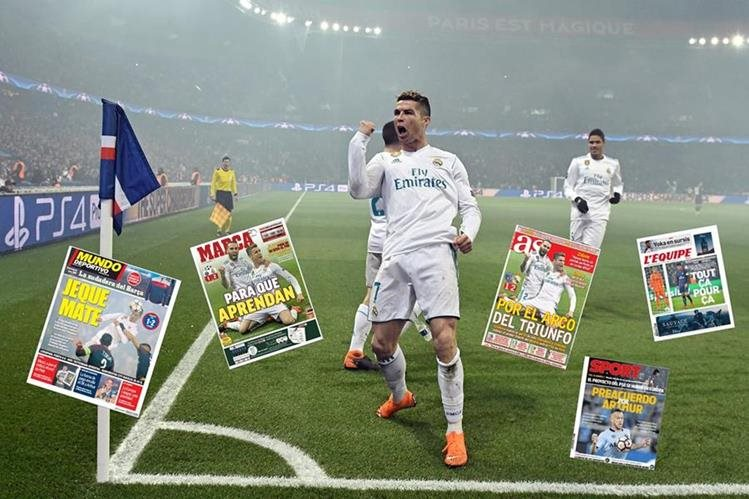 El portugués Cristiano Ronaldo volvió a ser la figura del triunfo del Real Madrid. (Foto Prensa Libre: AFP)