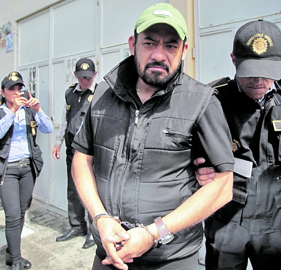 El exfiscal Orlando Salvador López, al momento de su captura.( Foto Prensa Libre: Hemeroteca PL)
