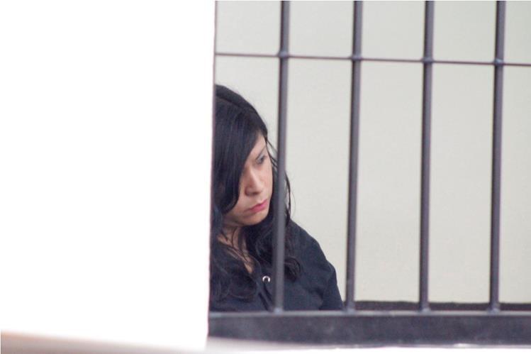Jaqueline Yesenia Choxom fue condenada por extorsión en Quetzaltenango. (Foto Prensa Libre: María José Longo)