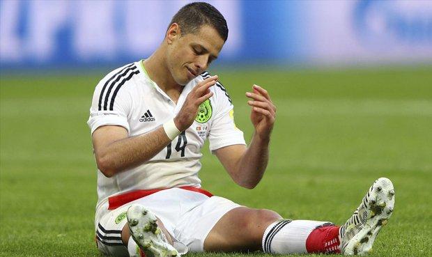 Por precaución, 'Chicharito' Hernández entrenó en solitario antes de enfrentar a Alemania