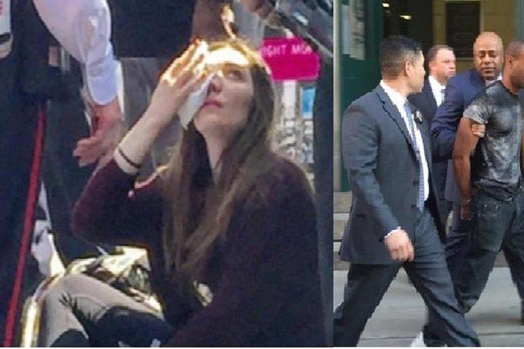 Turista canadiense fue golpeada en el rostro por no dar propina por su abrazo.