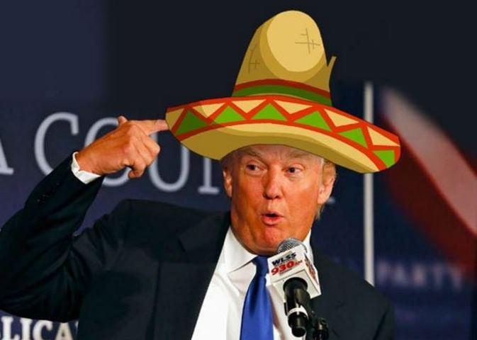 El republicano Donald Trump es motivo de burla en las redes sociales, luego de su visita a México. (Foto Twitter/@pacorfigueroa).